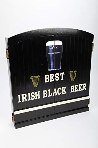 point home Dartschrank Best Irish Black Beer, Dartscheibe im Retrolook, 60cm
