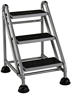 Cosco 3-Step Rolling Step Ladder, Grey