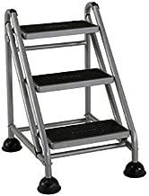 Cosco 3-Step Rolling Step Ladder, Grey