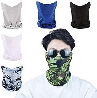 6 Pcs Bandana Face Mask Breathable Sun Protection Neck Gaiter Summer Balaclava Windproofing Face Sacrf for Men Women Cooli...
