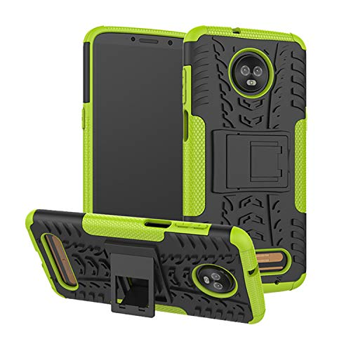 betterfon | Outdoor Handy Tasche Hybrid Hülle Schutz Hülle Panzer TPU Silikon Hard Cover Bumper für Motorola Moto Z3 Play Grün