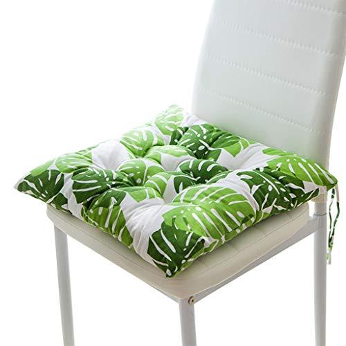 Love lamp Accueil Coussin Pad Bureau d'hiver Bar Chaise Banquette arrière Coussins Canapé Coussin Coussin Fesses Chaise Coccyx Coussin en Coton Coccyx Pad (Color : Green, Taille : 50 * 50cm)