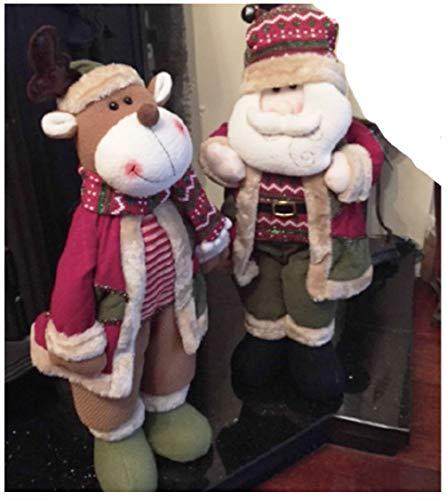 Wheels N Bits Santa Claus Snowman Reindeer Father Christmas X-mas Decoration Sing Dancing animated Cuddly Plush Cute (Santa & Reindeer 21' Standing)