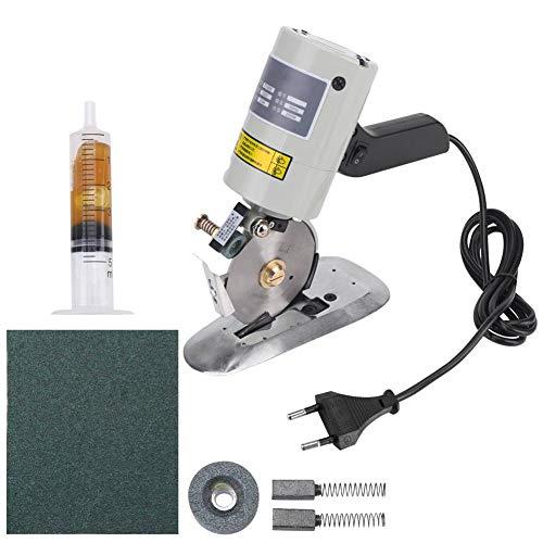 Elektrischer Stoffschneider mit 90 mm runder Klinge Elektrische Rotationsschneidemaschine zum Schneiden von Ledergewebe(220V EU Plug)