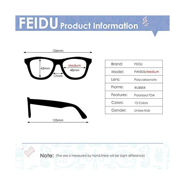 Baby Sunglasses Rubber Kids Polarized Sunglasses – FEIDU Fit Shades Glasses for Boys Girls toddler and Children Age 2-5