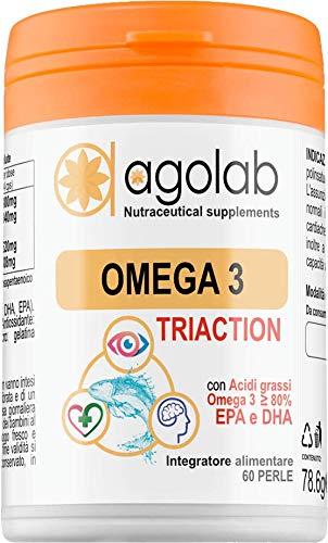 OMEGA 3 Tri-Action - Purissimo Certificato IFOS 5 Stelle - Olio di Pesce Alta Concentrazione di DHA e EPA
