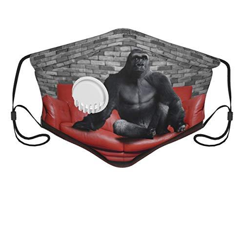 Nuevo diseño divertido gorila en el sofá rojo reutilizable...