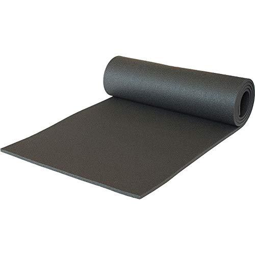 Schaumstoff Campingmatte Gymnastikmatte Aerobic Yoga Matte 180 x 50 x 0,8 210g (Schwarz)