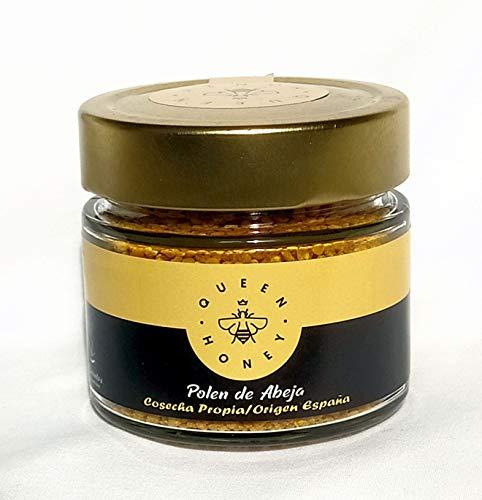 Queen Honey Polen de Abeja Natural en grano. Cosecha Propia. 130 gr. Aumenta las Defensas y Combate el Cansancio y Fatiga