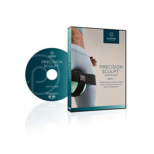 P.volve Precision Sculpt Workout Video DVD for Workout Ball, at Home Workouts and Fitness