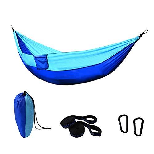 FEIDAjdzf Hamaca de camping individual, ultraligera de nylon portátil Hamaca, adecuado para viajeros