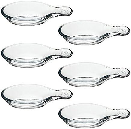 Preisvergleich für Pasabahce 53749 Gastroboutique - 6er Set Mini-Schälchen aus Glas in Blattform, 12 cm, Glas-Schälchen, Dipschale, Dessertschale, Mezeschale, Tapasschale, 6 Stück, stapelbar