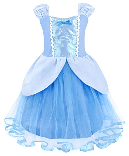 Cotrio Girls Birthday Party Fancy Dresses Kids Green Fairy Tale Princess Dress Halloween Costume Outfits with Accessories