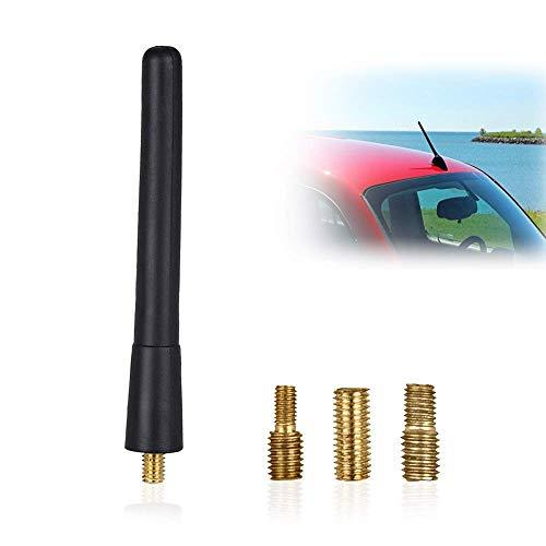 Autoantenne, KFZ Kurzstab Dachantenne für optimalen AM/FM-Empfang, Kurzstabantenne Universal M4, M5, M6 für KFZ PKW LKW und weitere, Dachantenne mit erstklassiger Empfangsqualität