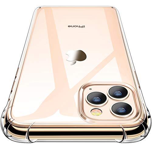 "CANSHN Funda para iPhone 11 Pro MAX, Carcasa Protectora Antigolpes Transparente con Parachoques de TPU Suave Flexible [Slim Delgada] Anti-Choques Compatible para iPhone 11 Pro MAX 6,5"" - Transparente"