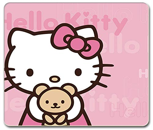 SMAIGE Gaming Mouse Pad / Mat with Stitched Edges , 11.8 × 9.8 × 0.12 Inches (Hello Kitty)