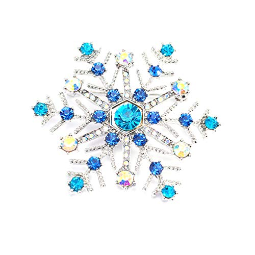Amosfun Snowflake Brooch Pin Winter Brooch Gift Women Christmas Party Decoration