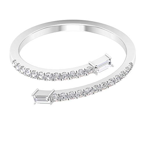 Rosec Jewels 18 quilates oro blanco round-brilliant-shape baguette-shape H-I Diamond