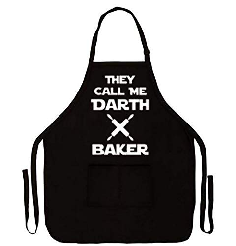 IDOXE Funny BBQ Grilling Aprons for Men Women Baking Waffle Darth Barber Vader Boyfriend Fathers Day Retirement Novelty Gifts Plus Size Home Accessories