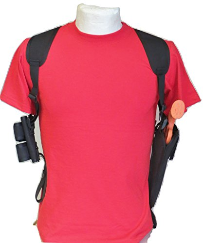 """Federal Shoulder Holster for 6"""" S&W 29 & 629 Double Speedloader Pouch"""
