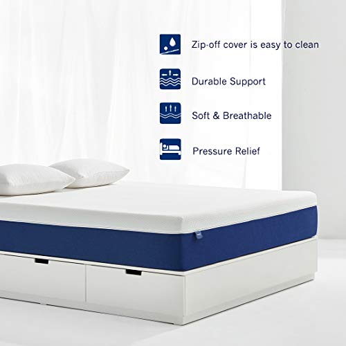 Queen Mattress, Molblly 10 inch Gel Memory Foam Mattress with CertiPUR-US Certified Foam Bed Mattress in a Box for Sleep Cooler & Pressure Relief, Queen Size