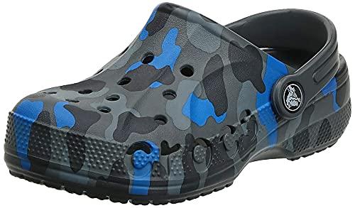 Crocs Baya Graphic Tie-Dye Clog (Toddler/Little Kid) Slate Grey 10 Toddler M