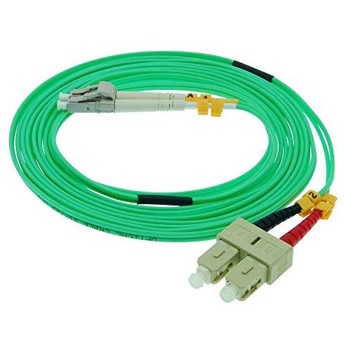 OM3 Duplex Multimode Fiber Optic Cable LC/SC 10Gb 50/125