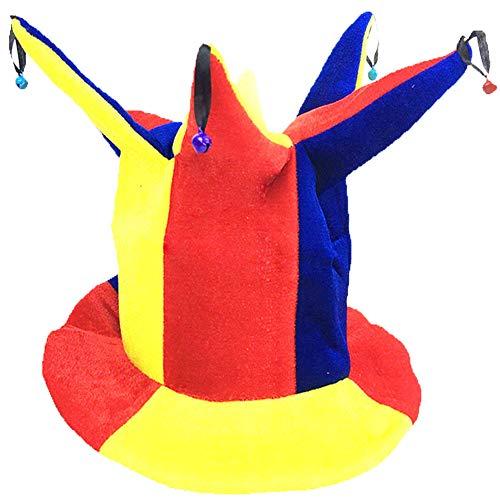 Black Temptation Disfraz de Sombrero de Bufón Sombrero de Bufón Divertido Disfraces de Fiesta de Halloween, Sombrero de Payaso #11