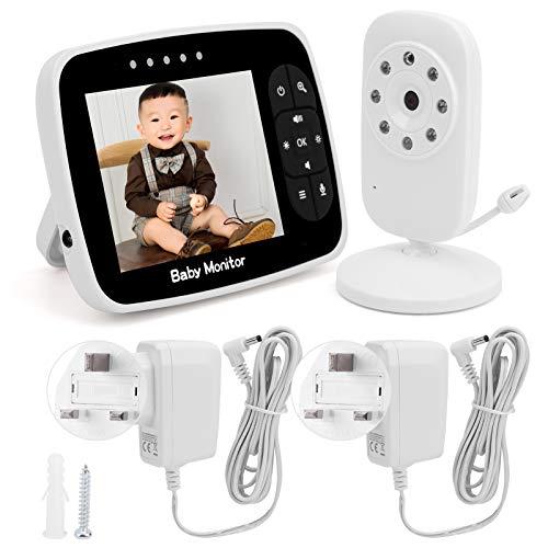 3.5 pulgadas inalámbrico digital video bebé Monitoreo temperatura Monitoreo cámara de seguridad 100-240V (regulaciones británicas (100-240V))
