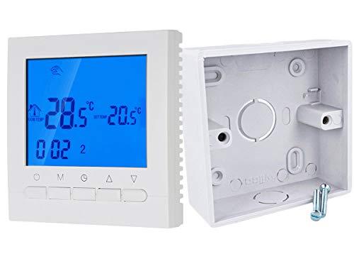 LEDLUX LL0251 Termostato Digitale Per Caldaia A Gas Wi-Fi Compatibile Con Amazon Alexa Schermo LCD Con Tasti 3A 220V Scatola Da Incasso 86X86mm Incluso Nel Kit