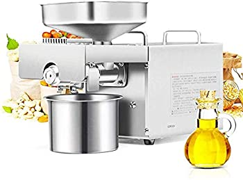 CGOLDENWALL 1500W Commercial Automatic Oil Press Machine Industrial Oil pressing machine Nuts Seeds Oil Presser Pressing Machine Cold Hot Press All Stainless Steel High Oil Extractor CE  110V