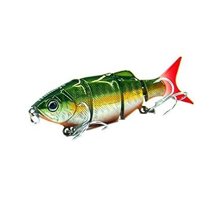 RUNakan Fishing Lure - 12.8cm 22g Bionic Realistic Hard Multi-segments Bait for Sun-fish Bass Walleye Yellow Perch Pike Roach Trout Muskie Swimbait by RUNakan