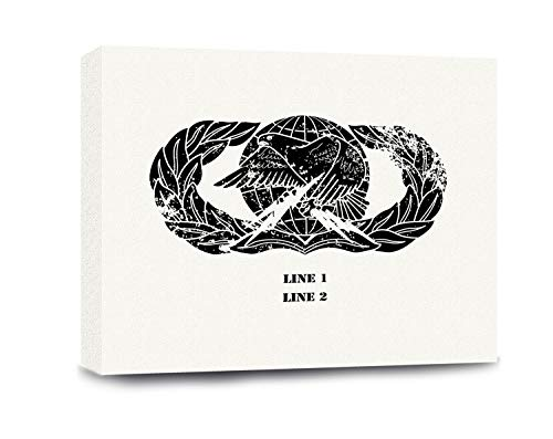 USAMM Customizable Air Force Logistics Badge Gallery Wrapped Canvas (Plain)