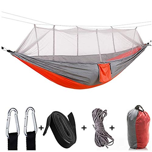 Portable Klamboe Hangmat 1-2 Persoon Portable outdoor camping hangmat Met Klamboe Hangmat Tent met waterdichte Canopy (Color : 2)