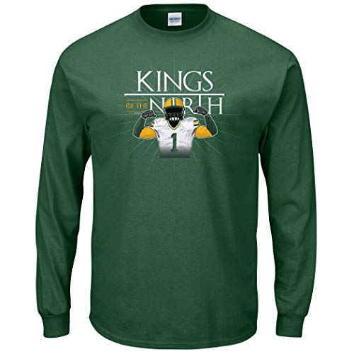 Nalie Sports Green Bay Football Fans. Kings of The North Forest Green Long Sleeve Tee (Sm-5X) (Long Sleeve, Large)