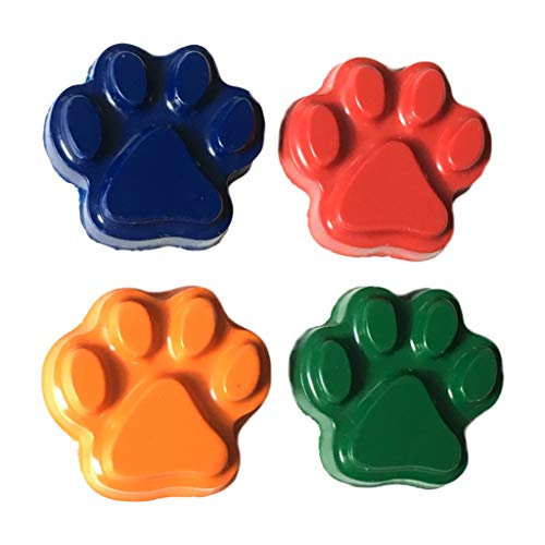 MinifigFans 48 Paw Print Crayons - Birthday Party Favors - 12 Sets of 4 - Made in the USA