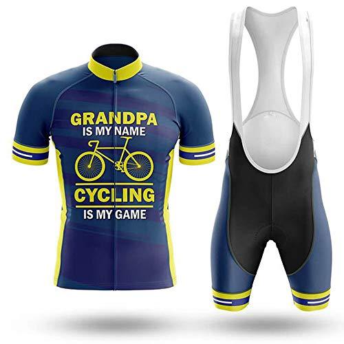Traje de Ciclismo para Hombre Culotte y Maillot con 9D Gel Pad para MTB, Spinning, Bicicleta de Carretera
