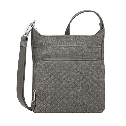 Travelon: Anti-Theft Boho N/S Crossbody Bag - Gray Heather