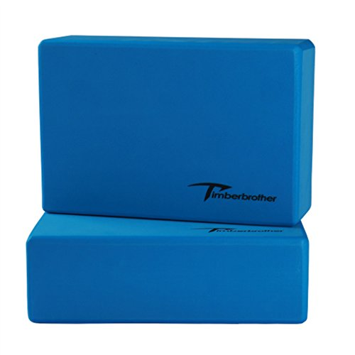 Timberbrother Set of 2 Yoga Blocks - Choose Your Color & Size (Blue,...