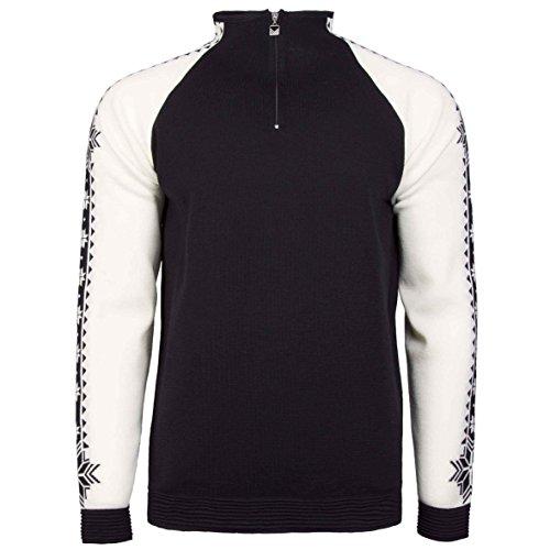 Dale of Norway Mens Geilo Masculine Sweater (Black/White, Medium)