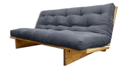 Sofabett Yokahoma natürliche, Futon grau, 200x120x24 cm