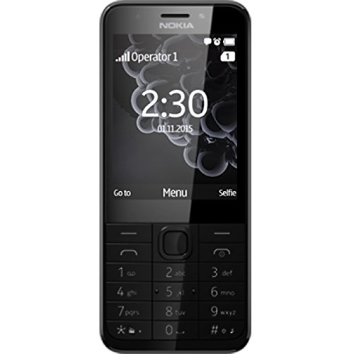 Nokia 230 Dual Sim Telefono Cellulare, 16 MB, nero - Garanzia Italia