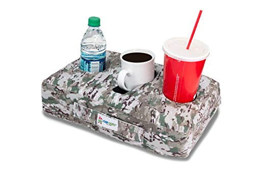 Cup Cozy Pillow (Camo)- The world's BEST cup holder! Keeps drinks close.Stops spills.Use it on the couch, bed, car, RV, park, camping, beach and more!