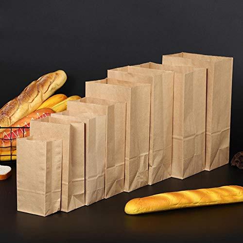 BPK - Bolsas de papel kraft (50 unidades), color marrón, Papel Kraft., 18x9x5cm
