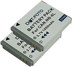 Batería 2x para Canon Ixy 30s IXUS 107 PowerShot s120 batería de repuesto 1000mah