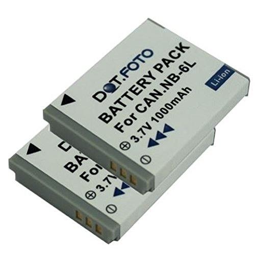750mah Li-ion batería para cámara Canon PowerShot sx530 HS reemplaza: nb-6l nb-6lh