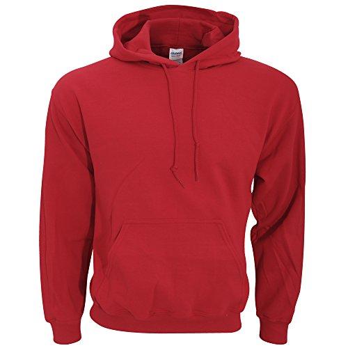 Gildan - Sudadera con capucha para hombre Rosso granata Small