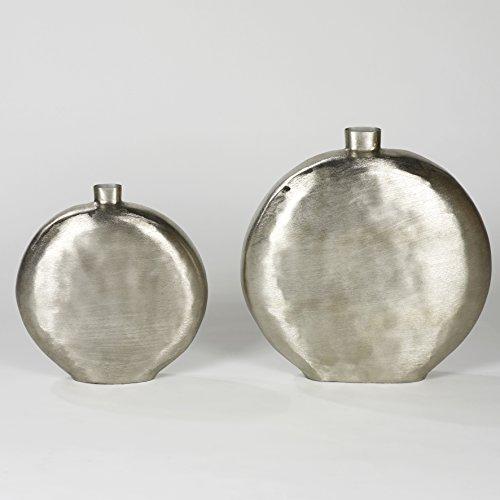 Lambert BOTERO Gefäß Aluminium, Vern, H38cm/B37cm/T11cm Metallaccesoires, Silber, One Size