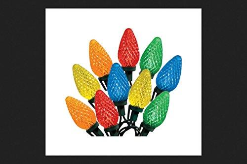 Celebrations 47736-71 Indoor/Outdoor C9 LED Multi-Color Light Bulbs On A Reel, 49', 75 Bulbs