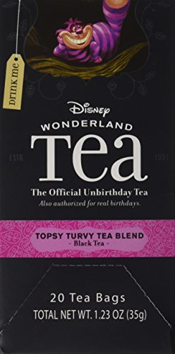 Disney Parks Exclusive Alice Wonderland Tea Collection Topsy Turvy Tea Bag Box 20 Count